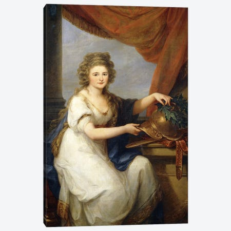 Portrait Of Countess Catherine Skavronska, 1789 Canvas Print #BMN7513} by Angelica Kauffmann Canvas Artwork