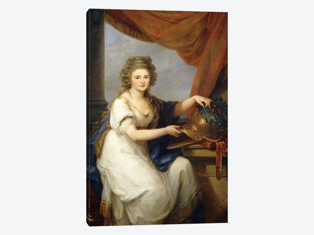 Portrait Of Countess Catherine Skavronska, 1789 by Angelica Kauffmann 1-piece Canvas Art Print