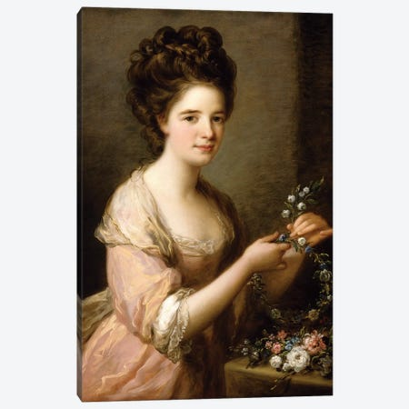 Portrait Of Eleanor, Countess Of Lauderdale, c.1780-81 Canvas Print #BMN7515} by Angelica Kauffmann Art Print