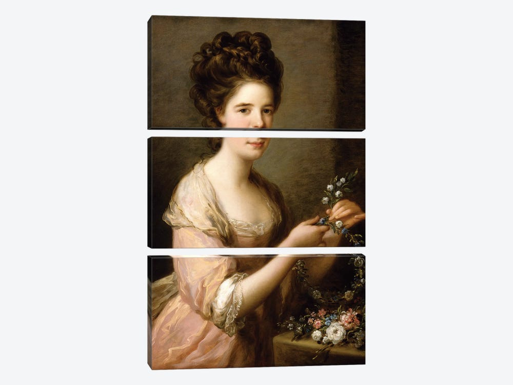Portrait Of Eleanor, Countess Of Lauderdale, c.1780-81 by Angelica Kauffmann 3-piece Art Print