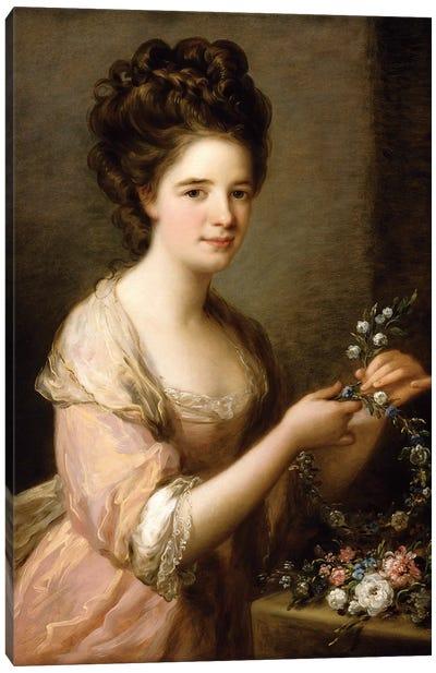 Portrait Of Eleanor, Countess Of Lauderdale, c.1780-81 Canvas Art Print
