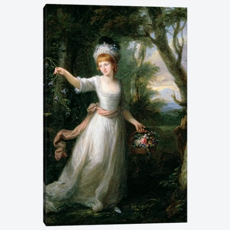 Portrait Of Henrietta Laura Pulteney Canvas Print #BMN7517} by Angelica Kauffmann Canvas Art Print