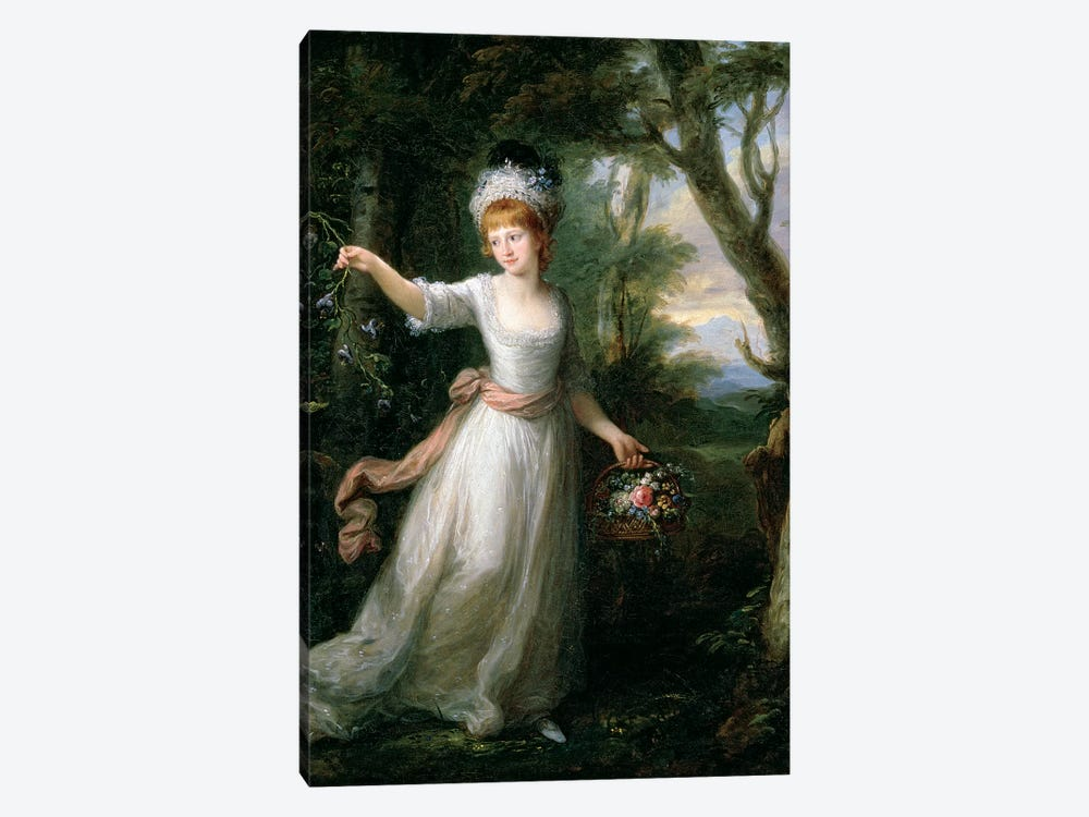 Portrait Of Henrietta Laura Pulteney by Angelica Kauffmann 1-piece Canvas Print