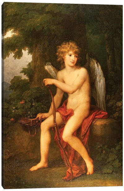 Portrait Of Prince Henryk Lubomirski As Cupid, 1786 Canvas Art Print