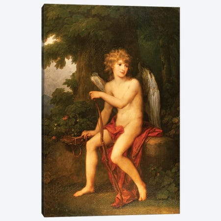 Portrait Of Prince Henryk Lubomirski As Cupid, 1786 Canvas Print #BMN7520} by Angelica Kauffmann Canvas Print