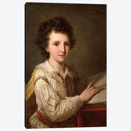 Portrait Of William Heberden The Younger Canvas Print #BMN7522} by Angelica Kauffmann Art Print