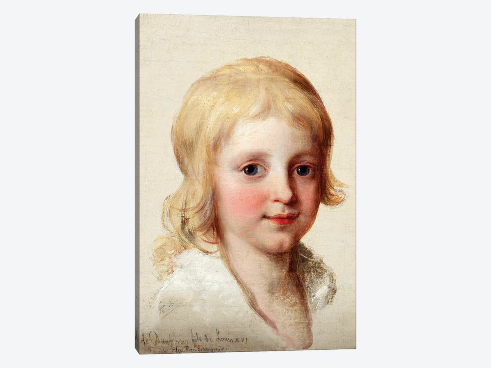 Portrait Study Of Francesco, Crown Prince Of Naples, As A Boy by Angelica Kauffmann 1-piece Canvas Art