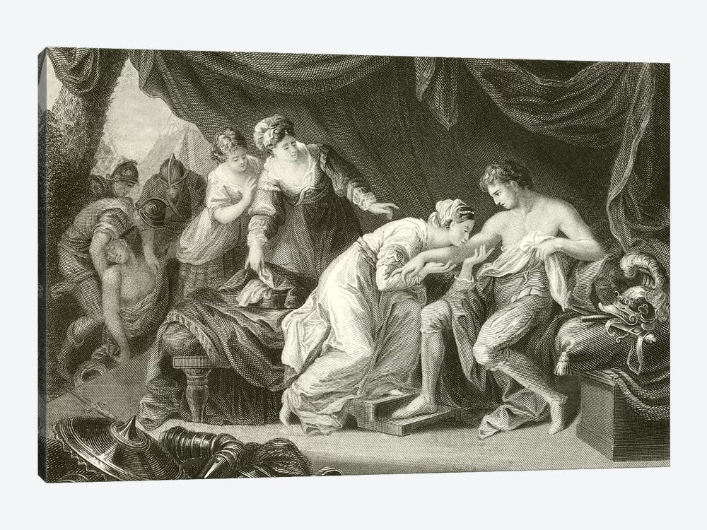 Posion Sucked From The Wound Of Prince Edward By His Consort Eleanor 1-piece Canvas Print