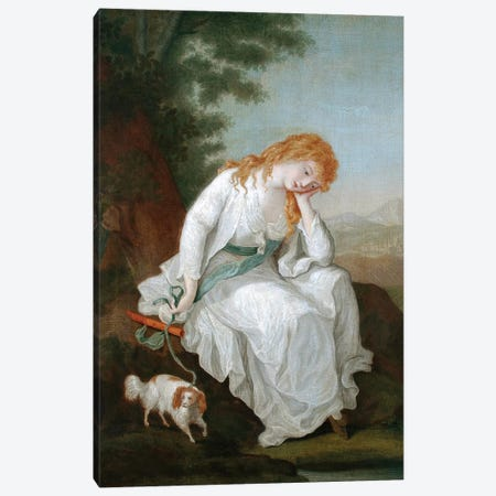 Possibly Maria Of Moulines (Illustration From Sterne's A Sentimental Journey Through France And Italy), 1766-81 3-Piece Canvas #BMN7525} by Angelica Kauffmann Canvas Artwork