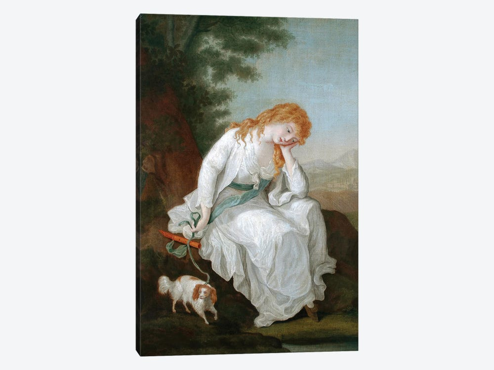 Possibly Maria Of Moulines (Illustration From Sterne's A Sentimental Journey Through France And Italy), 1766-81 by Angelica Kauffmann 1-piece Canvas Artwork