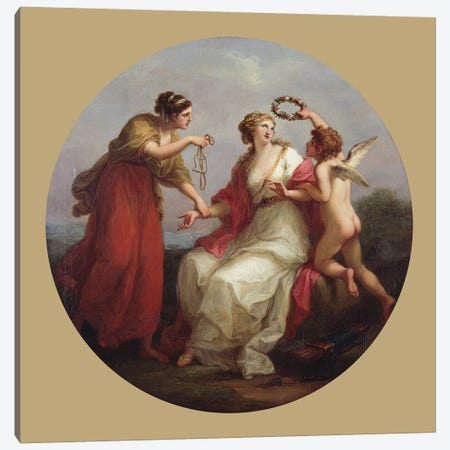 Prudence Resisting Love Canvas Print #BMN7526} by Angelica Kauffmann Canvas Wall Art