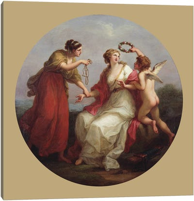 Prudence Resisting Love Canvas Art Print