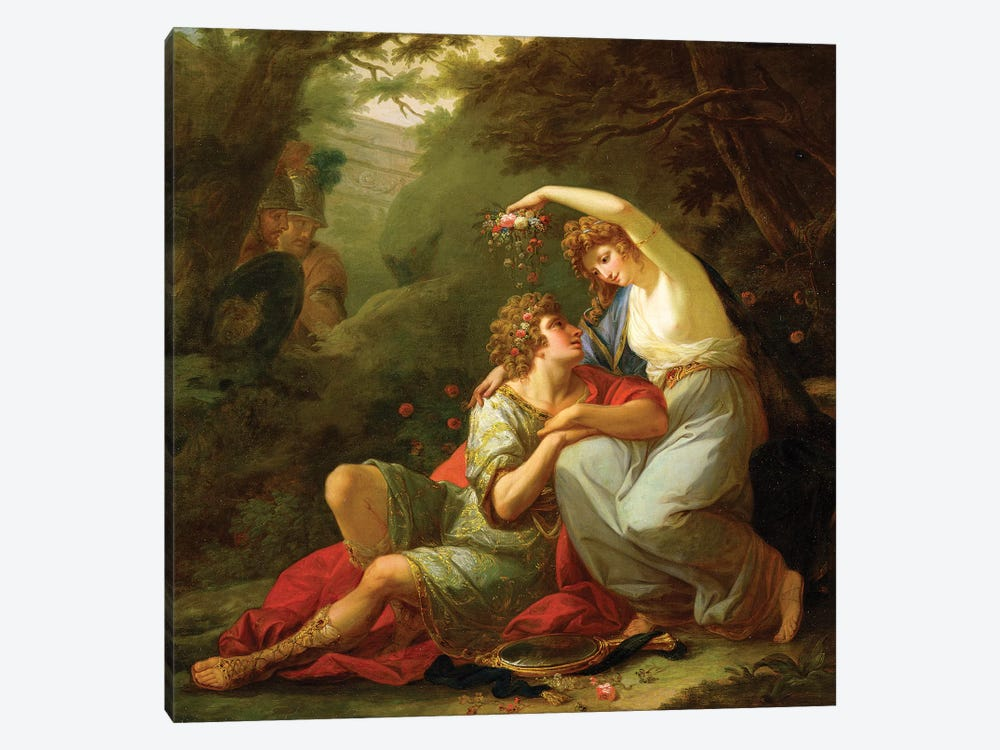 Rinaldo And Armida, 1771 by Angelica Kauffmann 1-piece Canvas Print