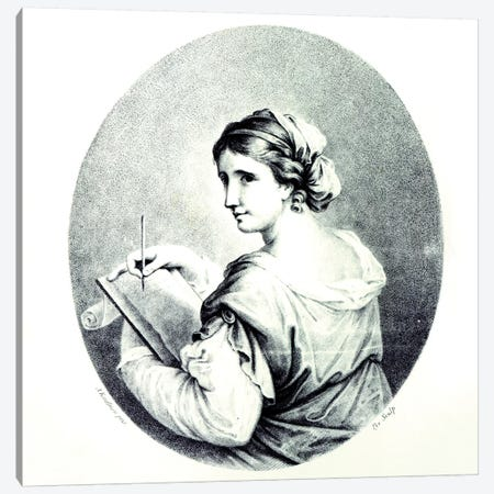 Sappho, 1774 Canvas Print #BMN7530} by Angelica Kauffmann Canvas Artwork
