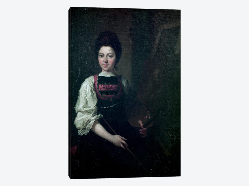 Self Portrait, 1763 by Angelica Kauffmann 1-piece Canvas Art