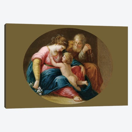 The Holy Family Canvas Print #BMN7535} by Angelica Kauffmann Canvas Art Print