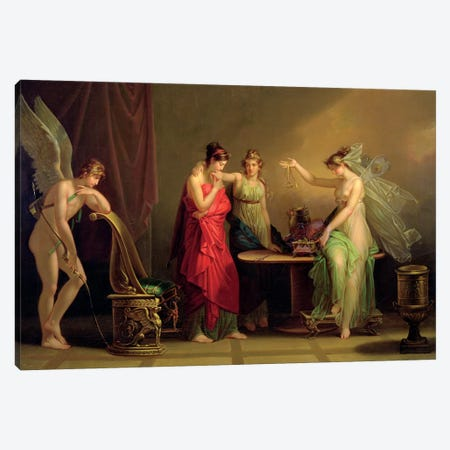 The Legend Of Cupid And Psyche Canvas Print #BMN7537} by Angelica Kauffmann Art Print