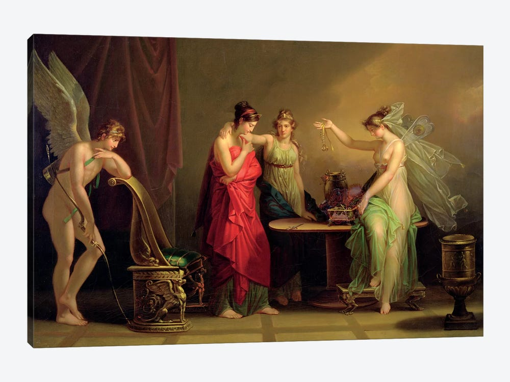 The Legend Of Cupid And Psyche by Angelica Kauffmann 1-piece Canvas Print