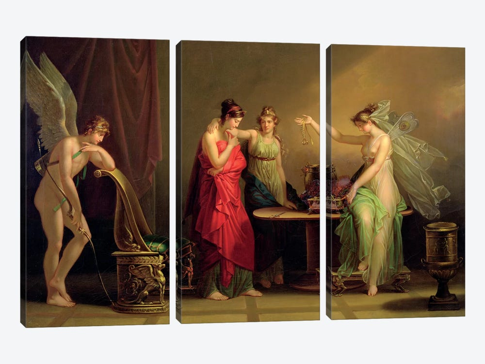 The Legend Of Cupid And Psyche by Angelica Kauffmann 3-piece Canvas Print