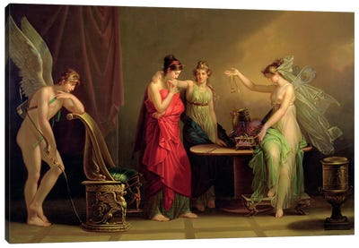 The Legend Of Cupid And Psyche Canvas Art Print