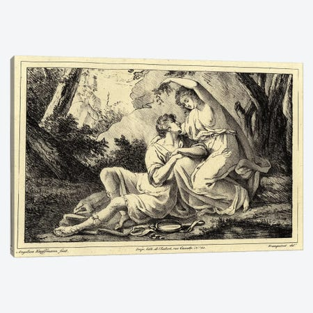 Two Lovers In A Landscape Canvas Print #BMN7539} by Angelica Kauffmann Canvas Artwork