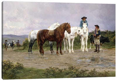 Pyrenees Farmers Market Bound, 1884 Canvas Art Print