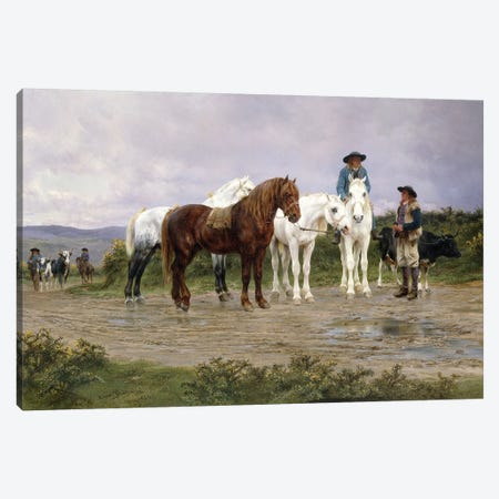 Pyrenees Farmers Market Bound, 1884 Canvas Print #BMN7547} by Rosa Bonheur Canvas Wall Art