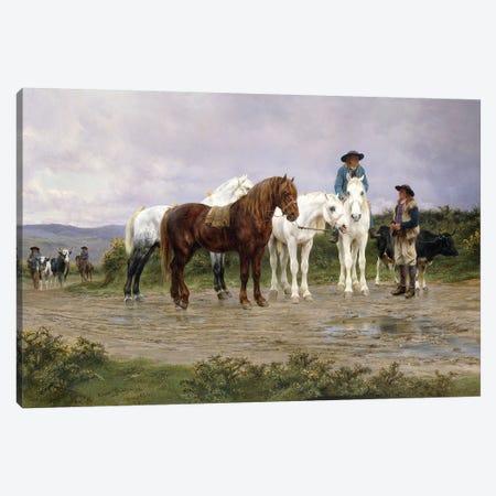 Pyrenees Farmers Market Bound, 1884 Canvas Print #BMN7547} by Rosa Bonheur Canvas Wall Art