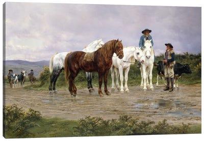 Pyrenees Farmers Market Bound, 1884 Canvas Art Print
