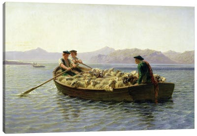 Rowing-Boat, 1863 Canvas Art Print