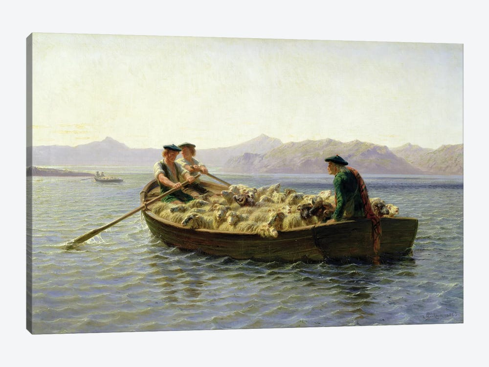 Rowing-Boat, 1863 1-piece Canvas Art Print
