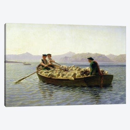 Rowing-Boat, 1863 Canvas Print #BMN7548} by Rosa Bonheur Art Print