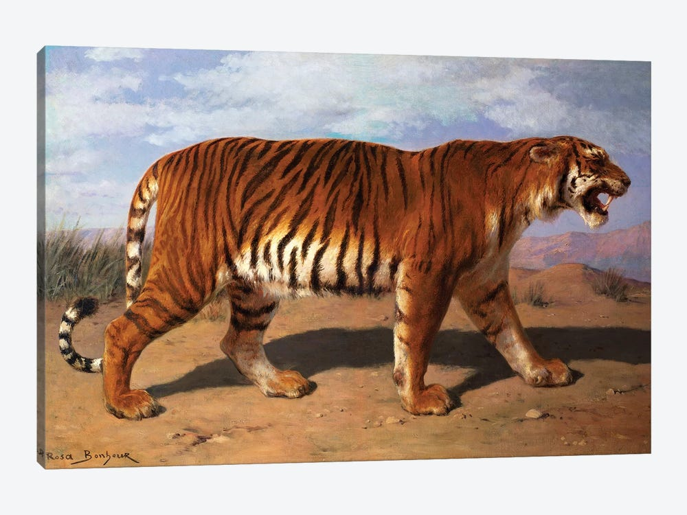 Stalking Tiger by Rosa Bonheur 1-piece Canvas Wall Art