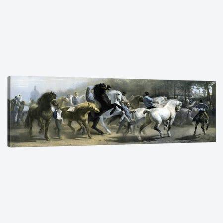 The Horse Fair (Colour Lithograph) Canvas Print #BMN7559} by Rosa Bonheur Canvas Artwork