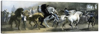 The Horse Fair (Colour Lithograph) Canvas Art Print