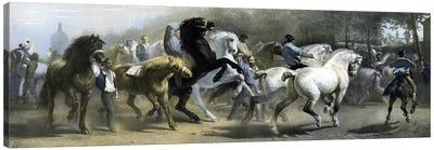 The Horse Fair (Colour Lithograph) Canvas Art Print