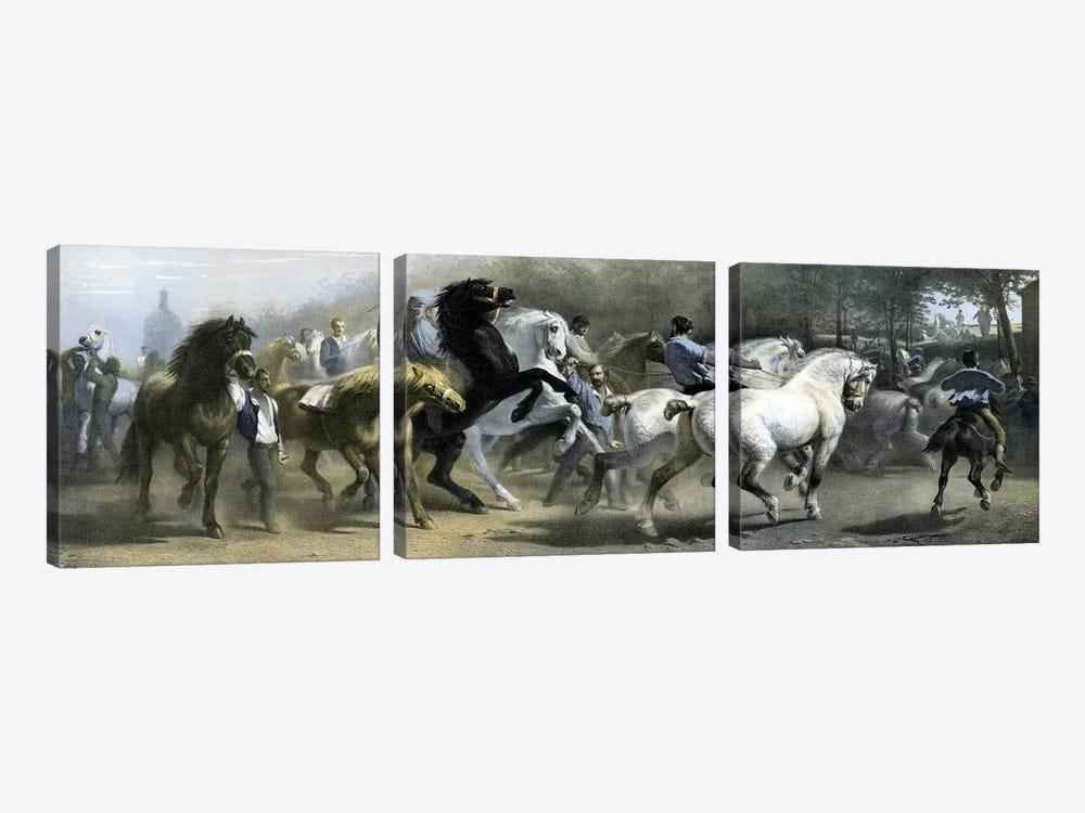 The Horse Fair (Colour Lithograph) by Rosa Bonheur 3-piece Art Print