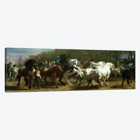 The Horse Fair, 1852-55 (Oil On Canvas) Canvas Print #BMN7560} by Rosa Bonheur Canvas Print