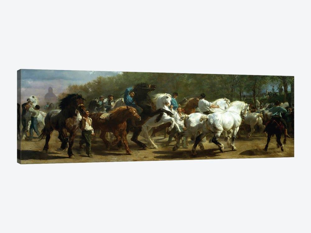 The Horse Fair, 1852-55 (Oil On Canvas) by Rosa Bonheur 1-piece Canvas Art Print