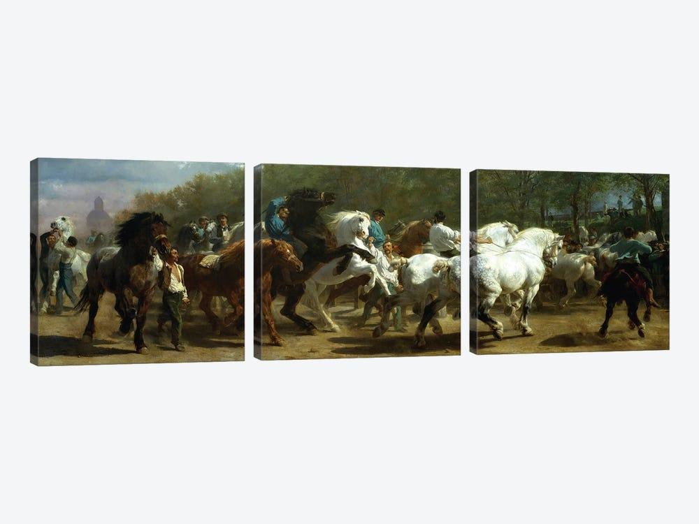 The Horse Fair, 1852-55 (Oil On Canvas) by Rosa Bonheur 3-piece Canvas Print