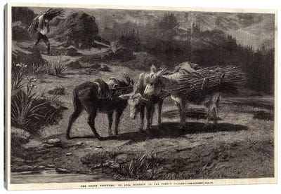 The Three Brothers (Illustration For The Illustrated London News), 13 April 1861 Canvas Art Print