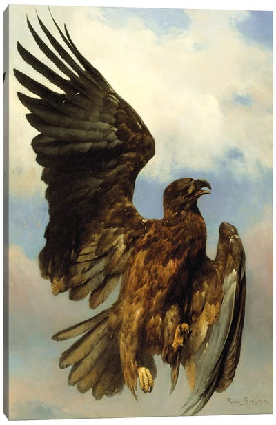 The Wounded Eagle, c.1870 Canvas Art Print