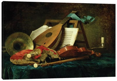 The Attributes Of Music, 1770 Canvas Art Print