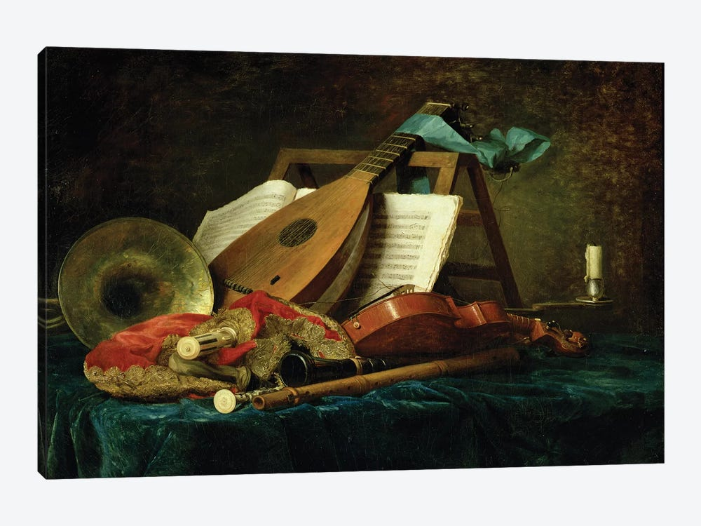 The Attributes Of Music, 1770 1-piece Canvas Art