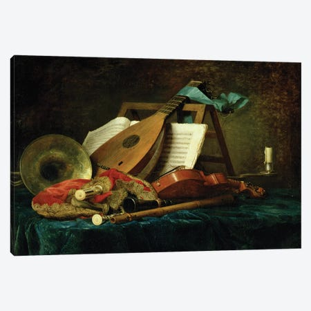 The Attributes Of Music, 1770 Canvas Print #BMN7572} by Anne Vallayer-Coster Canvas Artwork