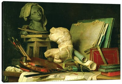 The Attributes Of The Arts (Painting, Sculpture And Architecture), 1769 Canvas Art Print