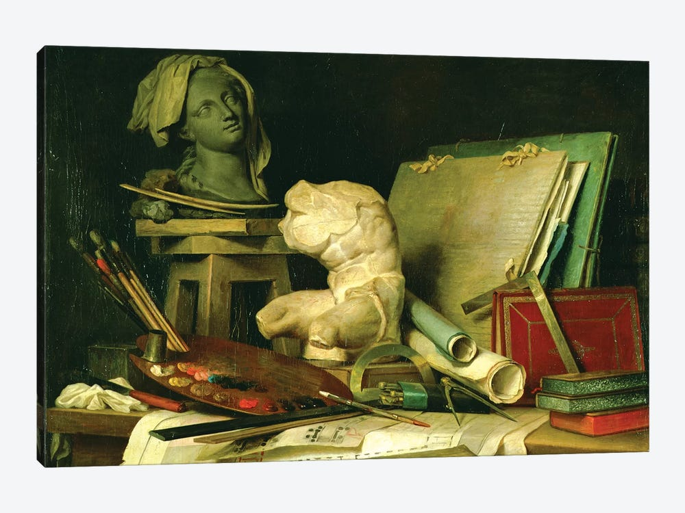 The Attributes Of The Arts (Painting, Sculpture And Architecture), 1769 by Anne Vallayer-Coster 1-piece Canvas Print