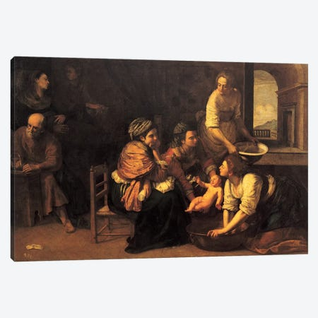Birth Of Saint John The Baptist, 1633-35 Canvas Print #BMN7574} by Artemisia Gentileschi Canvas Print
