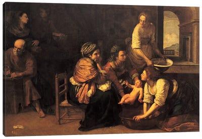 Birth Of Saint John The Baptist, 1633-35 Canvas Art Print