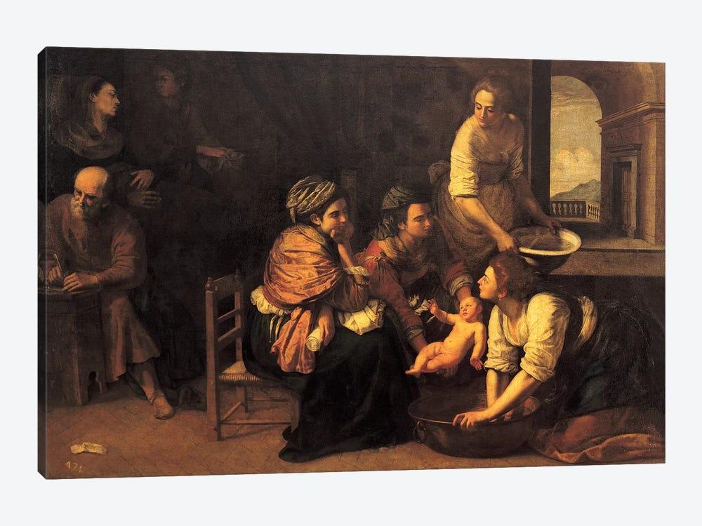 Birth Of Saint John The Baptist, 1633-35 by Artemisia Gentileschi 1-piece Canvas Artwork